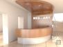 Komerčný priestor Nitra - 3D návrh recepčný pult