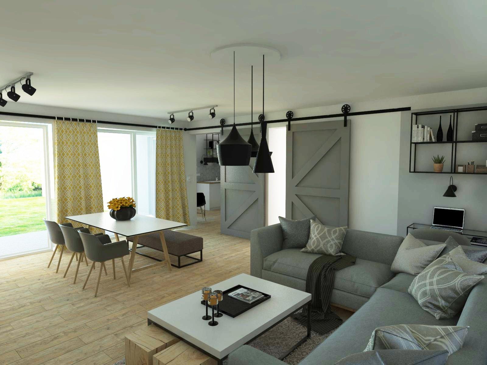 obývačka, jedáleň