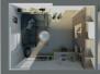 Návrh, vizualizácia pracovne - RD Trnava