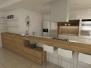 RD Nitra - 3D návrh kuchyne s obývačkou a spálne